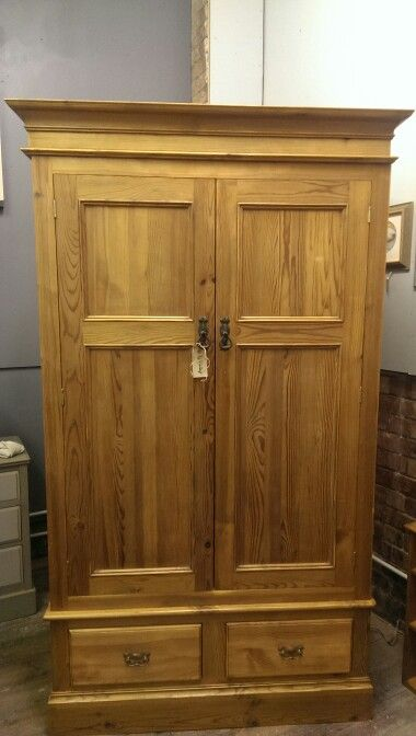 Lovely back to the wood pine wardrobe £315
