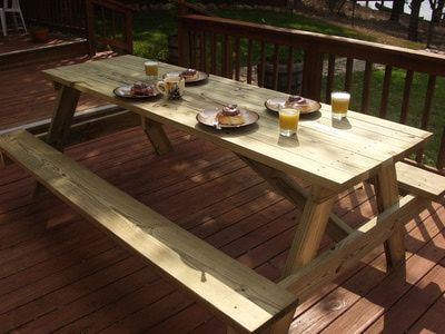 woodworking plans build your own picnic table large picnic table plans ...