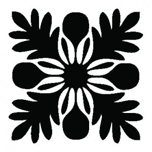 Traditional Hawaiian quilt design, breadfruit.