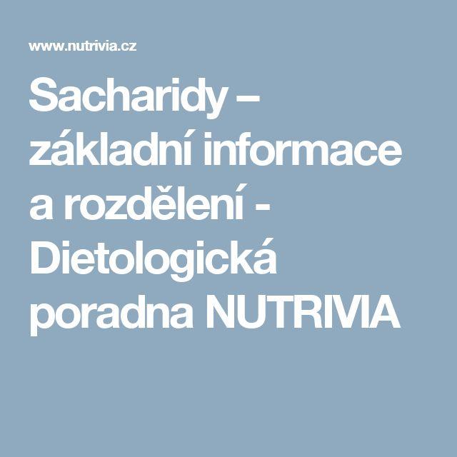 Sacharidy – základní informace a rozdělení - Dietologická poradna NUTRIVIA