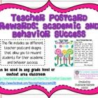 This PDF file of teacher postcards contains six different designs that focus on rewarding students for positive behavior and academic success. Ther...
