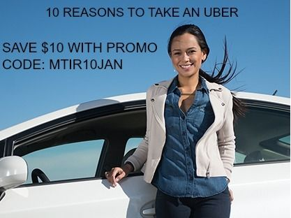 10 Reasons To Take An Uber And $10 Promo Code For Your First Ride! http://mythoughtsideasandramblings.com/10-reasons-take-uber-10-promo-code-first-ride/
