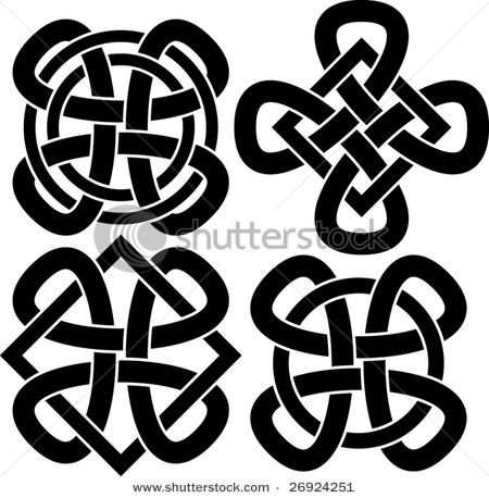 The bottom right knot is similar to the High Queen's symbol. The four smaller loops represent the four courts, with the center loop, the high court, holding them together.