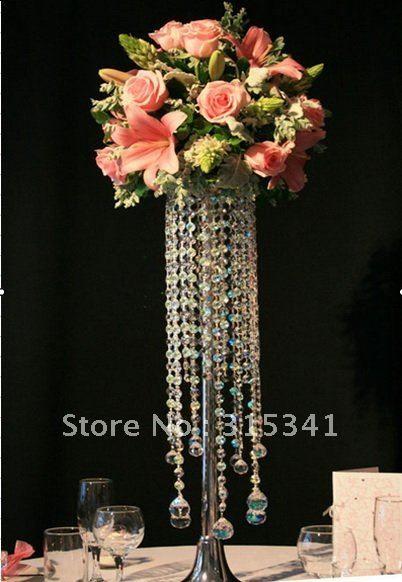 Fedex 10pcs Lots Acrylic Crystal Wedding Centerpiece Ouge 005 70cm