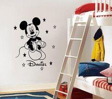 Mickey Mouse Cartoon Vinyl Decal Art Wall Sticker For Kids Children Room Home Decor 50*67cm(China (Mainland))