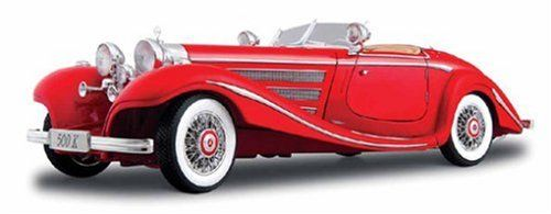 Maisto Premiere Edition - 1936 Mercedes Benz 500 K TYP Specialroadster Car 1:18 - Red (36862)  Manufacturer: Maisto Enarxis Code: 018074 #toys #Maisto #miniature #cars #Mercedes #classic