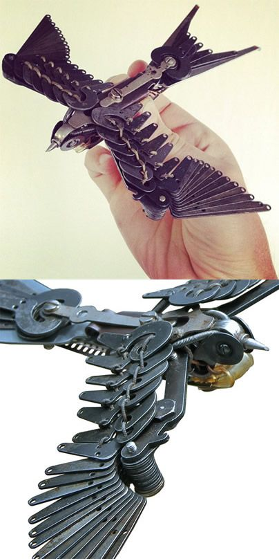 Made from typewriter parts. #BelieveItorNot someone found a use for typewriter parts!