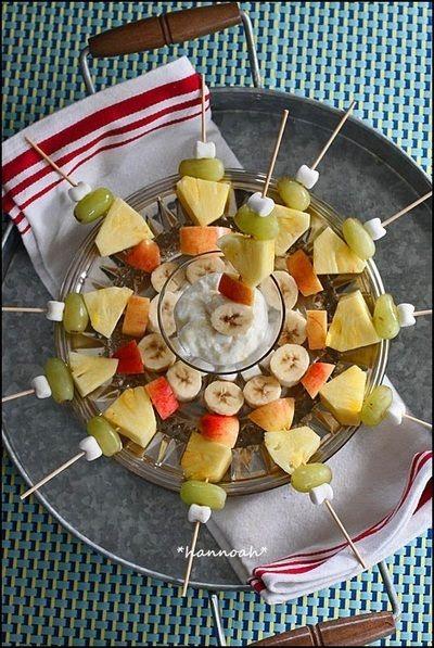チーズケーキディップで♪ フルーツケバブ by hannoahさん | レシピ ...