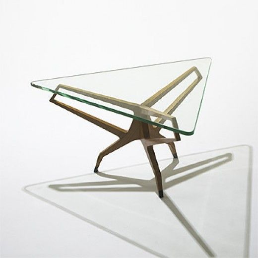 Franco Campo and Carlo Graffi, Attributed, Walnut Coffee Table c 1955.