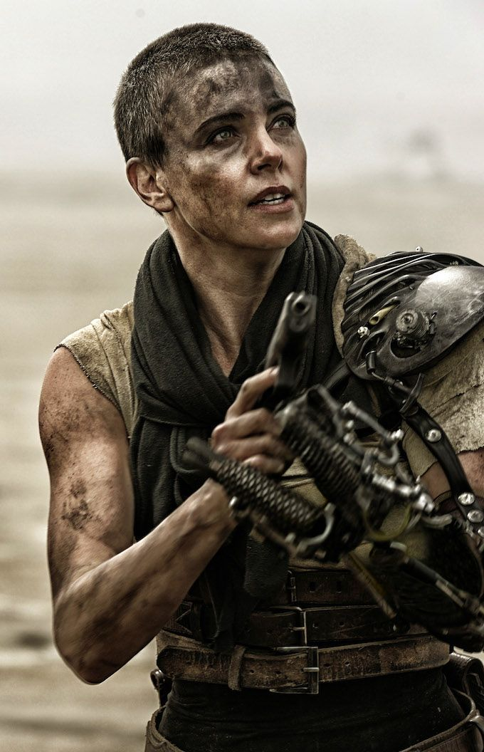 Charlize Theron in Mad Max Fury Road | I cannot recommend this movie enough.