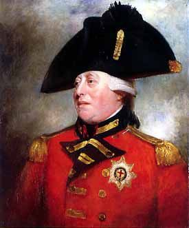 """George III 1760-1820  Known as """"Farmer George"""" he was a much loved King, who was devoted to his Queen (Charlotte) He suffered from some strange tendencies though and was once said to have had a conversation with a tree believing it to be the King of Prussia! Prehaps this is also why he is remembered as """"Mad King George"""""""