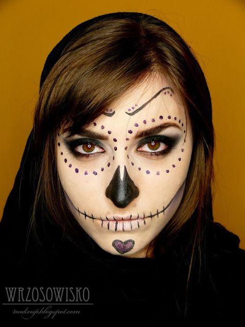 Wrzosowisko- MakeUp Blog: Sugar Skull- makijaż na halloween