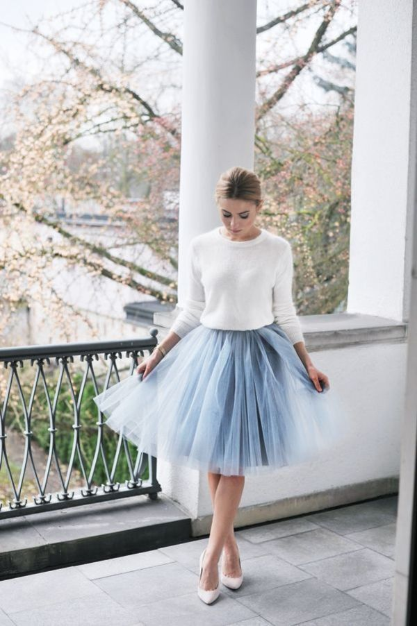 Zo style je de stylish tule rok met een it-girl waardige look! | Fashionlab