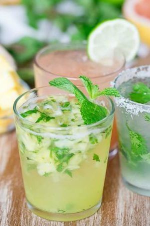 This pineapple caipirinha is a great way to celebrate Cinco de Mayo. Like a mojito but without the rum, caipirinhas use cachaca for a delicious and refreshing sip.