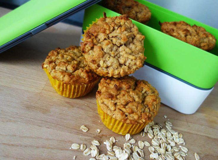 Vegane Apfelmuffins - gesunder Snack für unterwegs allerlei4kids ekulele mamablogger muffins ohne ei muffins fuer kinder bentobox monbento