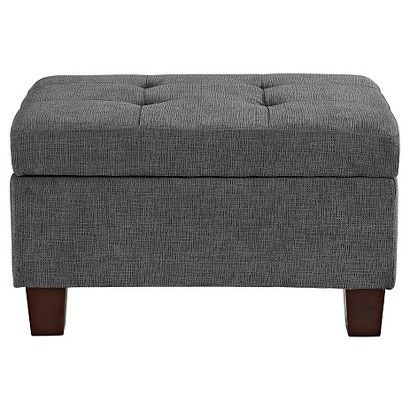 Felton Tufted Small Storage Ottoman - Threshold™ - GREY