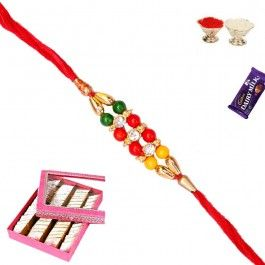 #Gift #Kaju Katali with Premium #Bracelet #Rakhi AT http://www.rakhistoreonline.com/rakhi-with-sweets/kaju-katali-with-premium-bracelet-rakhi.html