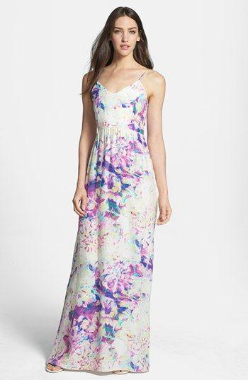 Pretty Parker Dress... 'Niko' Print Silk Maxi Dress available at #Nordstrom #iWant