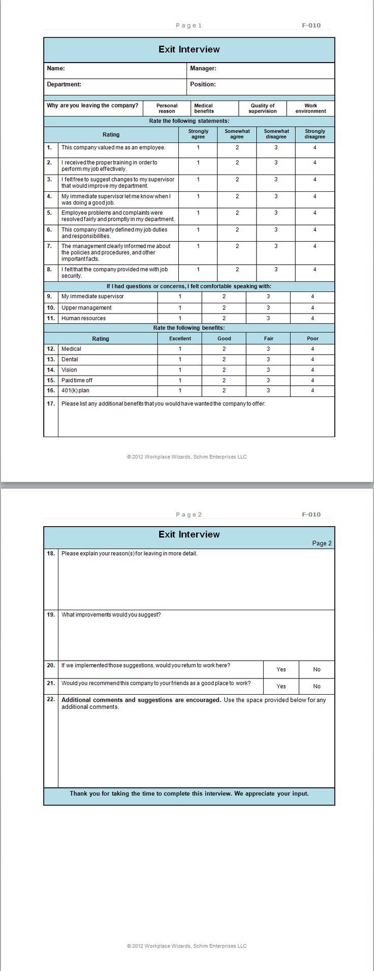 restaurant employee evaluation forms