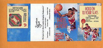 1989-90 NBA BASKETBALL ATLANTA HAWKS POCKET GAME SCHEDULE