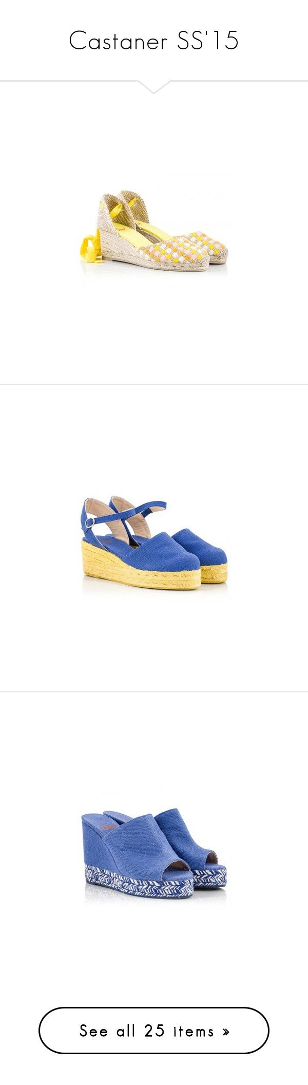 """Castaner SS'15"" by fratellikarida-com ❤ liked on Polyvore featuring Madewell, Castañer, shoes, sandals, espadrilles, woven wedge sandals, multi color sandals, espadrille wedge sandals, multi color wedge sandals and woven sandals"