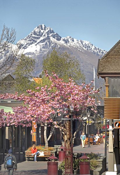 The mall in Spring, Queenstown