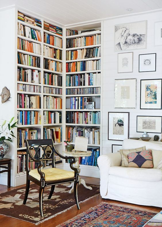 Corner book shelves For living room