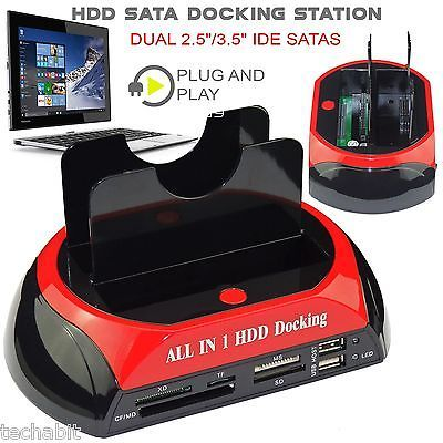 Dual-2-5-034-3-5-034-IDE-SATA-HARD-DRIVE-DISK-HDD-DOCKING-STATION-USB-DOCK-HUB