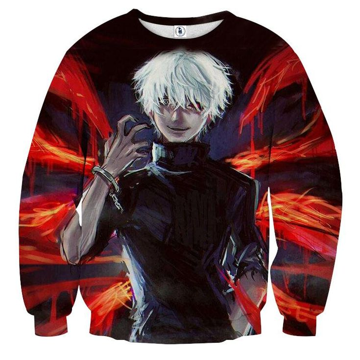 Tokyo Ghoul Anime Ken Kaneki Ready To Fight Dope Sweatshirt — Konoha Stuff #TokyoGhoul #Anime #KenKaneki #Sweatshirt #Konoha