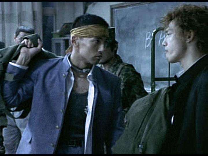 Battle Royale- Shogo Kawada and Kazuo Kiriyama.  My two favorite characters:)