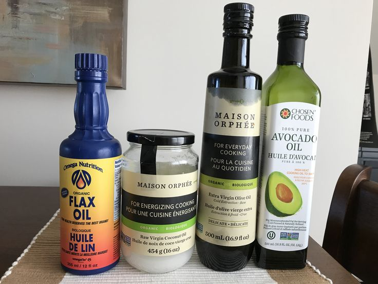 Healthy oils to cook, bake and put on salads. #goodfats #baking #cooking