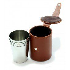 6 Medium Cups and Leather Case made by Marlborough World in West #Midlands - £97.95
