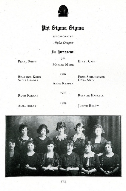 Phi Sigma Sigma by Hunter College Archives, via Flickr