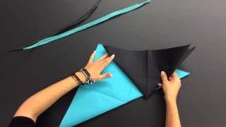 pliage de serviette en papier 2 couleurs en forme géométrique - YouTube