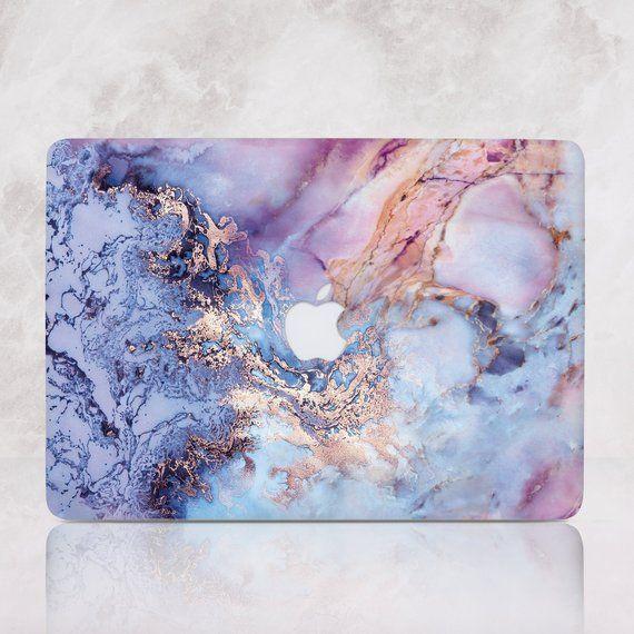 Purple Marble Macbook Pro 15 2019 Case Mac Air Retina Cover Blue Marble Macbook 13 inch 2018 Cover Mac Air Sleeve Laptop Hard Case RD1484