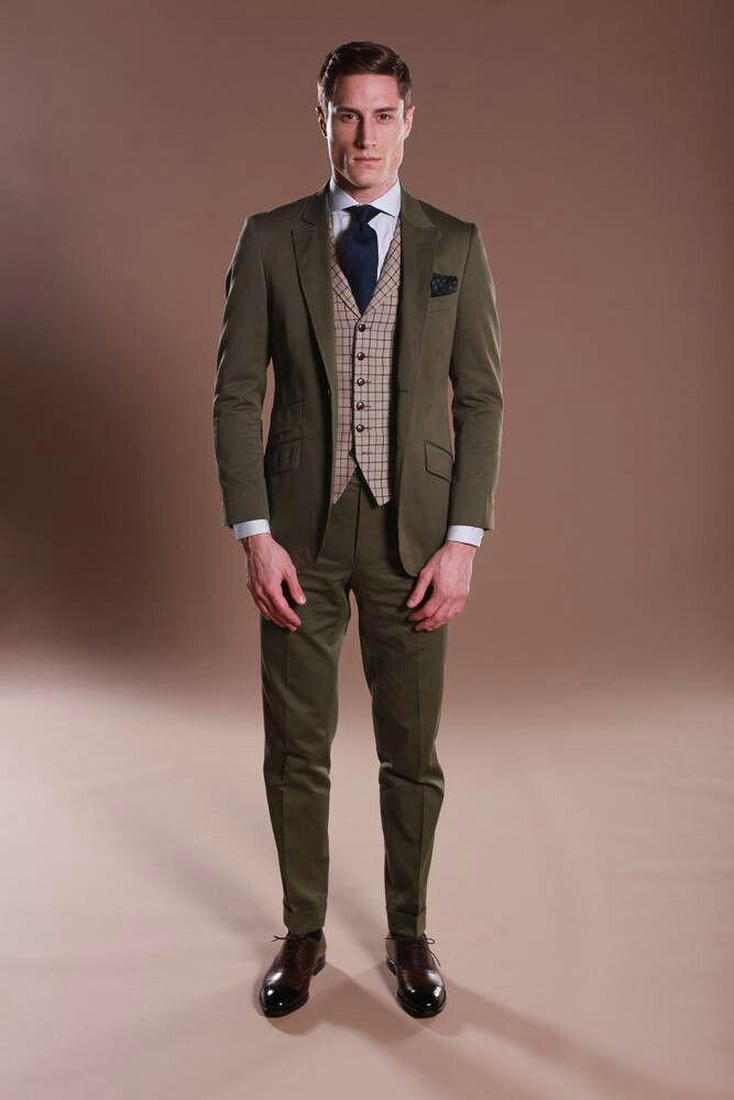 Costume Anglais vert en coton et cachemire   Les dernières ... a0e4468dd2f