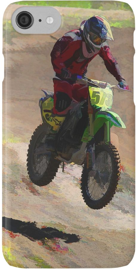A daring Motocross Racer flies over the dirt moguls with ease in his battle to win his race. • Also buy this artwork on phone cases, apparel, stickers, and more.