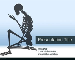 13 best health careers images on pinterest ppt template power skeletal system powerpoint template toneelgroepblik Choice Image