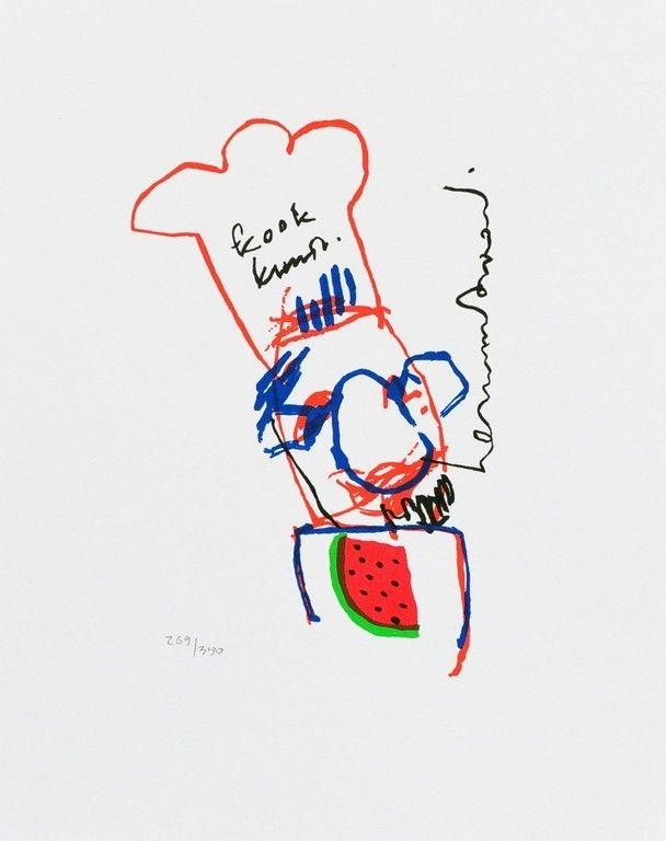 Kook kunst zeefdruk Herman Brood nummer 269