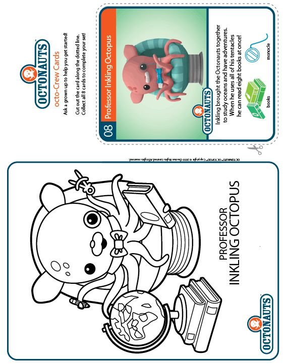 Octonauts Colour Inkling Octopus Treehouse Octonauts Coloring
