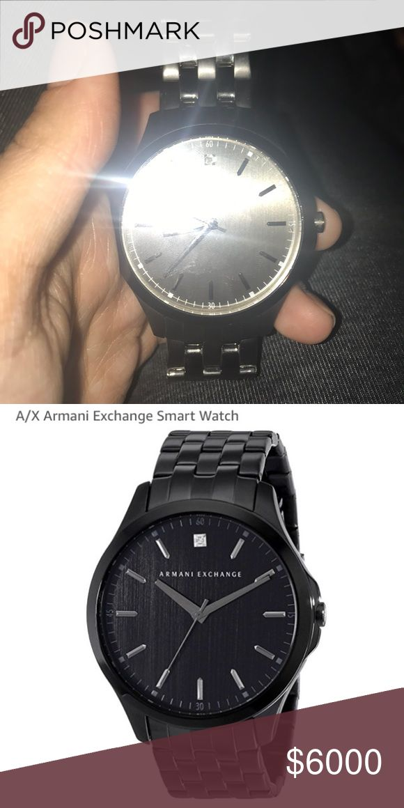 Armani watch RARE WATCH MUST GO QUICK... OFFER BELOW big diamond it 4 carrot dYEMIND BIG A/X Armani Exchange Accessories Scarves
