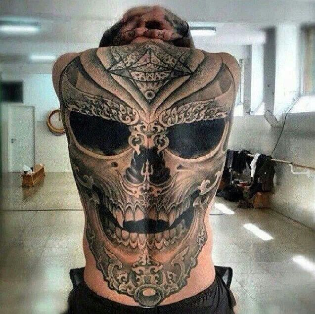 Skull Back Piece: 1000+ Images About Skull Tattoos/designs On Pinterest