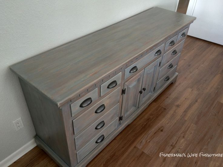 Fishermanu0027s Wife Furniture: Master Bedroom Dresser Reveal #weatheredwood  #weatheredgray #staineddresser #dresser