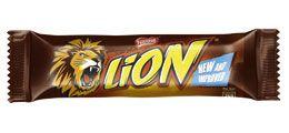 Lion Bar – Nestlé >  Wafer, caramel and crisp cereal covered in milk chocolate