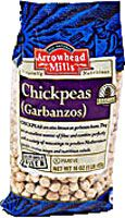 Arrowhead Mills Organic Garbanzos Chickpeas.  Make EASY delicious homemade HUMMUS.