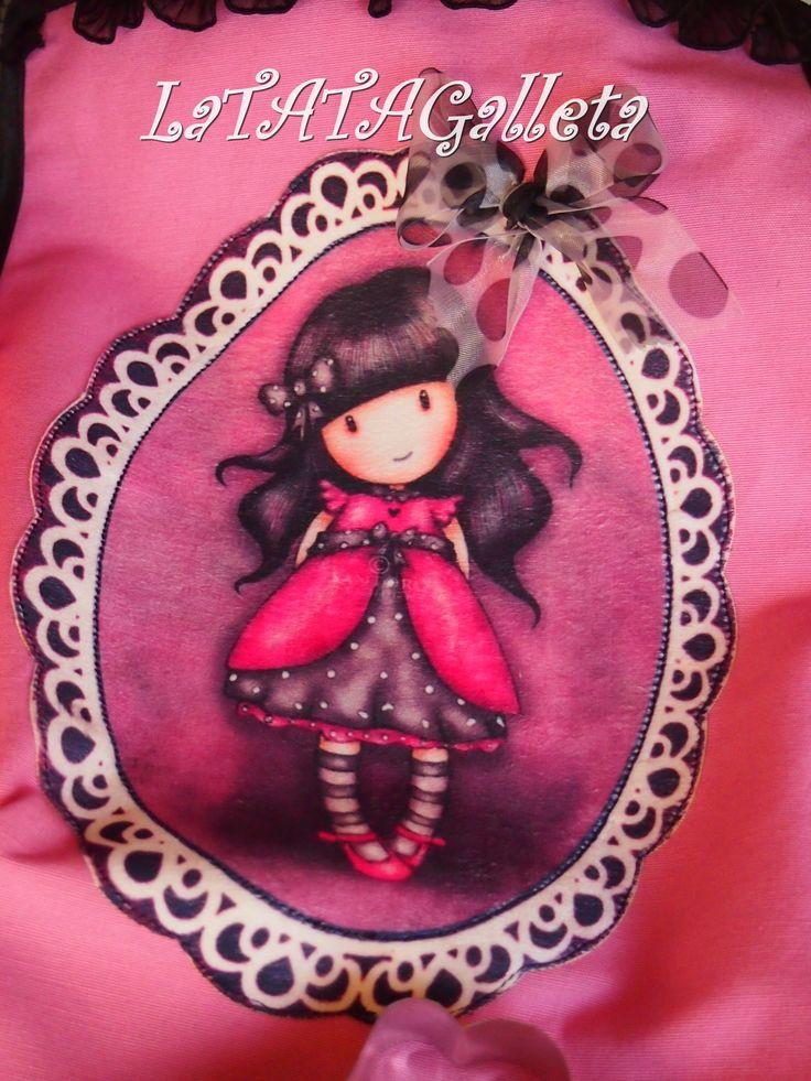 Delantal muñeca Gorjuss. LaTATAGalleta.blogspot.com