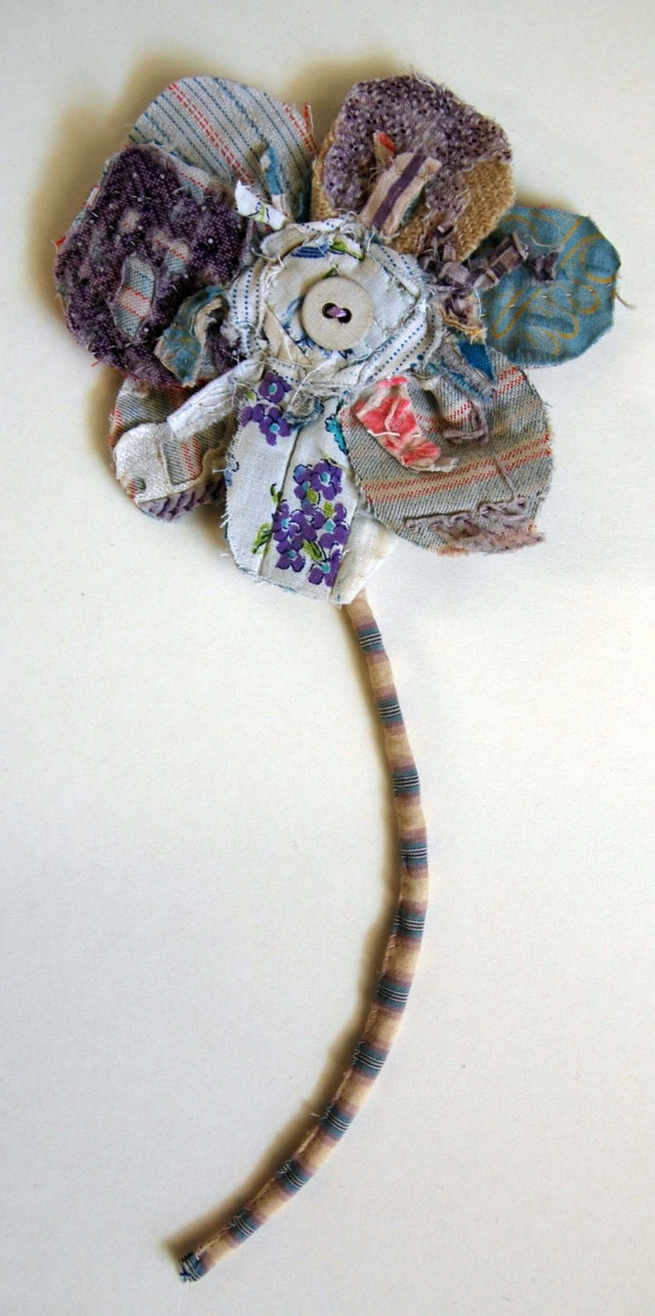 Fabric Flower Brooch/ Fabric Flower Wall Piece. £12.00, via Etsy. My aunt mil can make this!