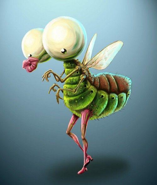 рисунки прикольных насекомых нарост