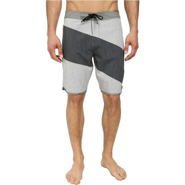 VISSLA Cutback Boardshorts (Phantom) Men's Swimwear (26 CAD) ❤ liked on Polyvore featuring men's fashion, men's clothing, men's swimwear, grey, mens board shorts swimwear, mens ties, mens clothing, mens apparel and mens swimwear
