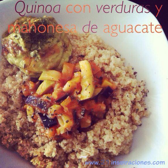 Quinoa con verduras y mahonesa de aguacate - 21 Inspiraciones